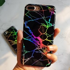Accessories - Holographic Marble Soft Phone Case